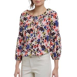 Anthropologie | Maeve | Pansyfield Floral Blouse
